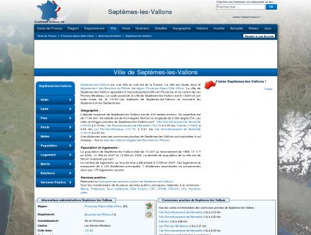 SEPTEMES-LES-VALLONS - Carte plan hotel...