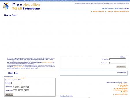 Plan Gers (32) : plan gratuit Gers à télécharger...