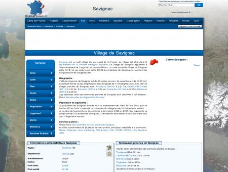 SAVIGNAC - Carte plan hotel village de...