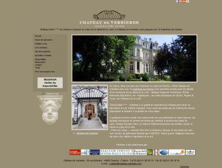 Hotel Château de Verrières à Saumur : château,...