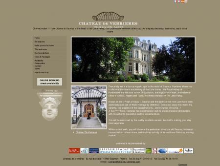 Hotel Saumur Chateau de Verrieres - hotel chateau 4 stars ...