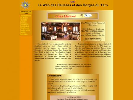 Chez Malaval - Hôtel Restaurant - Gîtes ruraux -...
