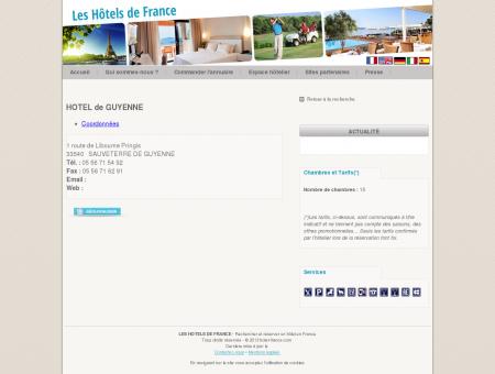 HOTEL de GUYENNE SAUVETERRE DE...