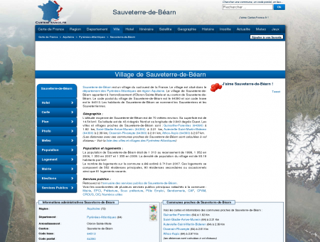SAUVETERRE-DE-BEARN - Carte plan hotel...