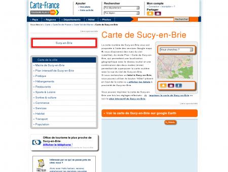 Carte et plan de Sucy-en-Brie 94370 : Hôtel,...