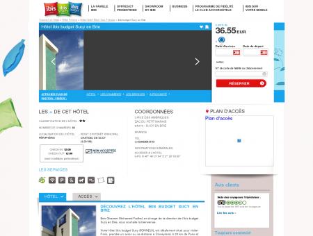 Hotel pas cher SUCY EN BRIE - ibis budget...