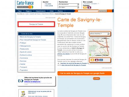 Carte et plan de Savigny-le-Temple 77176 :...