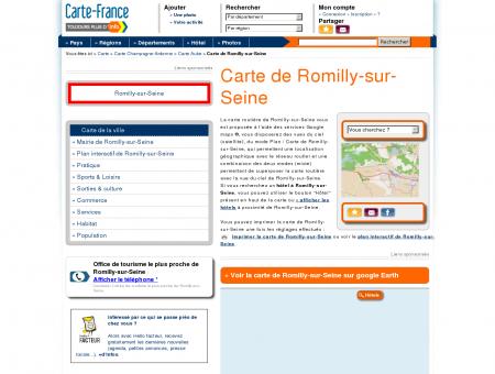 Carte et plan de Romilly-sur-Seine 10100 :...