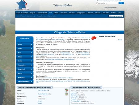 TRIE-SUR-BAISE - Carte plan hotel village de...
