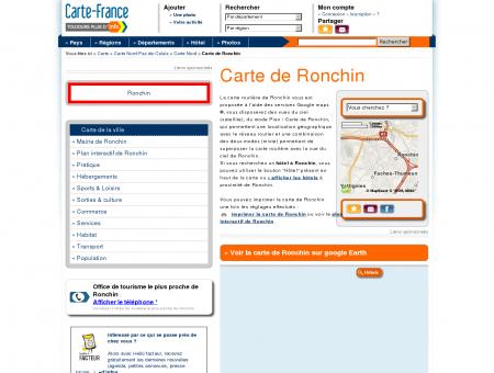 Carte et plan de Ronchin 59790 : Hôtel,...