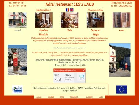Pyrénées Orientales - Hotel les 2 lacs -...