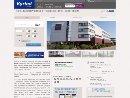 Hotel KYRIAD PRESTIGE STRASBOURG NORD ...