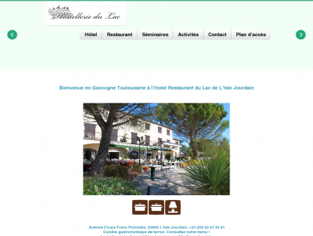 Hotel du Lac Hotel Restaurant Lac Isle Jourdain...