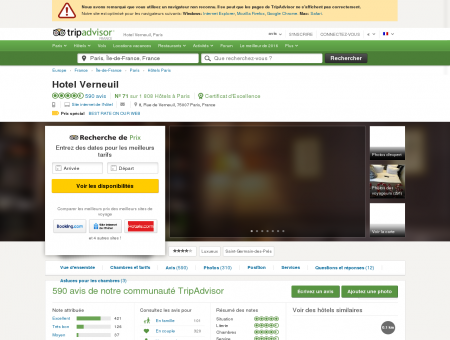 Hotel Verneuil (Paris) : voir 571 avis et 125...
