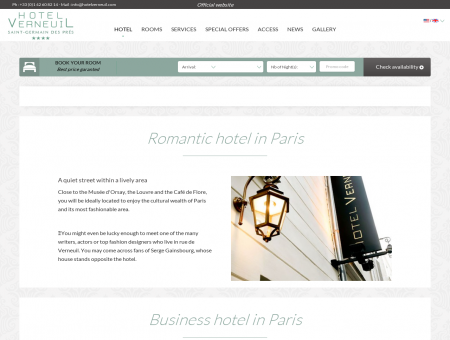 Hotel latin quarter Paris | Hotel Verneuil - Official Website