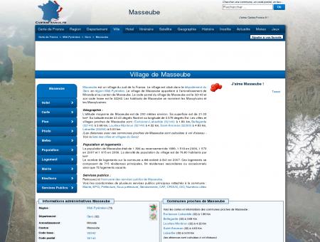 MASSEUBE - Carte plan hotel village de...