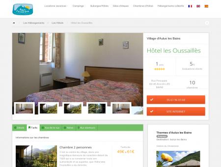 Hôtel les Oussaillès - Hôtels à Aulus les Bains ...
