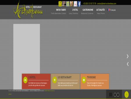 Hôtel Restaurant Archambeau à Thonac -...