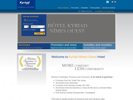 Hôtel 3 étoiles Kyriad Nîmes Ouest - Site...