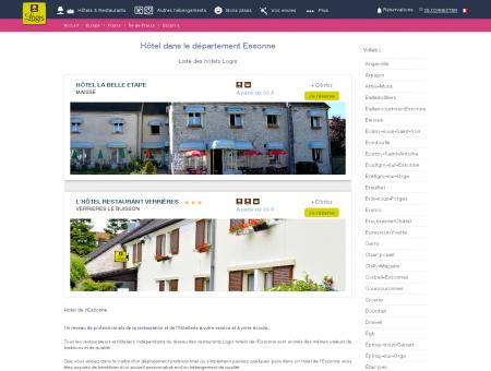 Hôtel dans l'Essonne. Restaurants logis hotels...