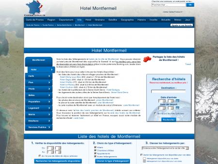 HOTEL MONTFERMEIL : Réservation hôtels...