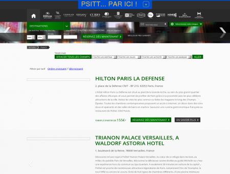 Hôtels Hilton à Paris - -35% avec les soldes Hilton.