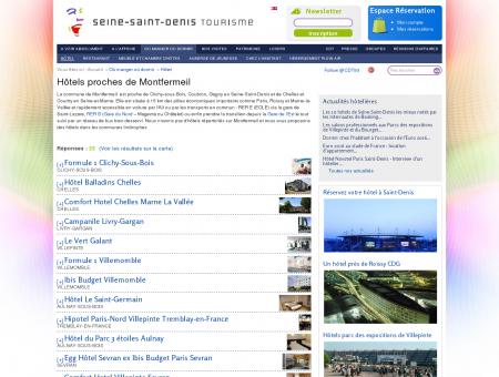Liste des hôtels à Montfermeil et aux environs