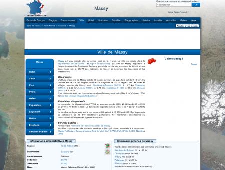 MASSY - Carte plan hotel ville de Massy 91300...