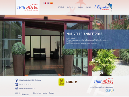Hôtel Restaurant Thib'Hotel **** Les étoiles de...
