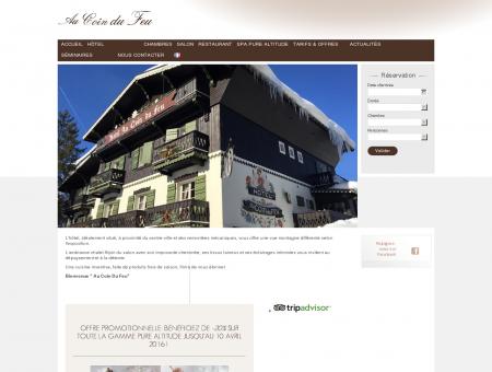 Site Officiel de l'hôtel 3 étoiles Au Coin Du Feu,...
