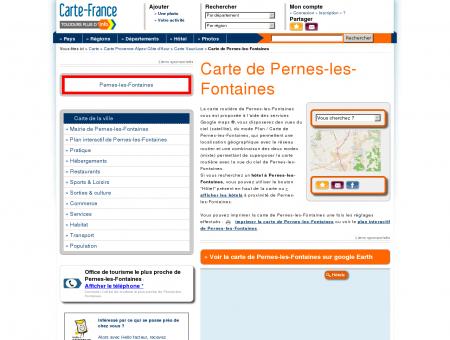 Carte et plan de Pernes-les-Fontaines 84210 :...