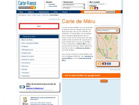 Carte et plan de Méru 60110 : Hôtel, tourisme,...