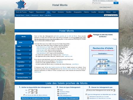 HOTEL MONTS : Réservation hôtels Monts...