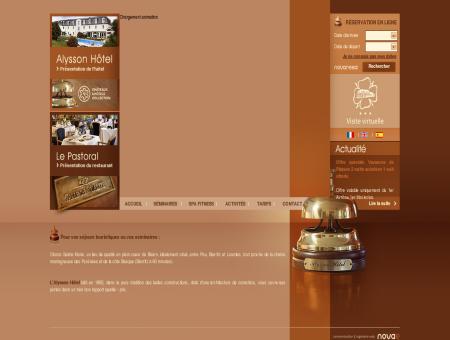 ALYSSON HOTEL - Hôtel restaurant 3 étoiles à...