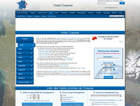 HOTEL CREYSSE : Réservation hôtels Creysse...