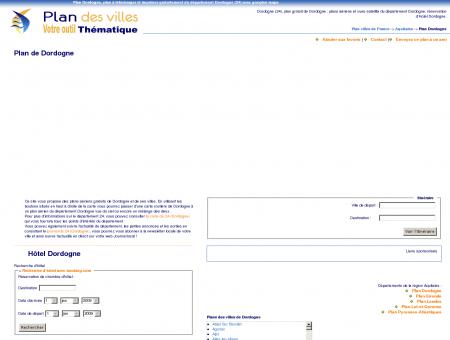 Plan Dordogne (24) : plan gratuit Dordogne à ...