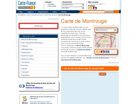Carte et plan de Montrouge 92120 : Hôtel,...