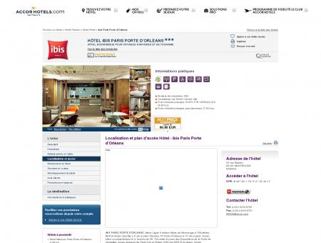 Plan d'accès, directions, trajet vers l'hotel ibis...
