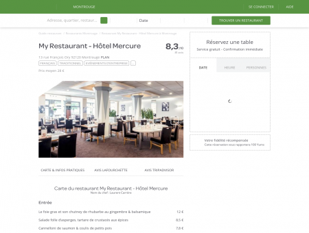 Restaurant My Restaurant - Hôtel Mercure à...