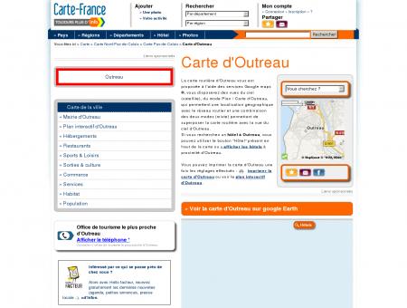 Carte et plan d'Outreau 62230 : Hôtel,...