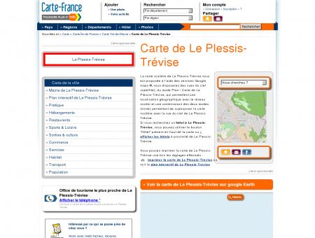 Carte et plan de Le Plessis-Trévise 94420 :...