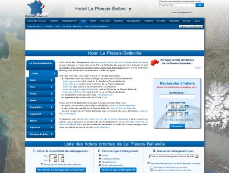 HOTEL LE PLESSIS-BELLEVILLE : Réservation...