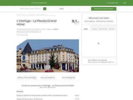 Restaurant L'Horloge - Le Plessis Grand Hôtel...