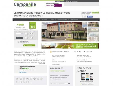 Hôtel CAMPANILE ROISSY - Le Mesnil Amelot ...