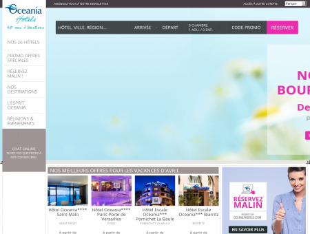Oceania Hotels site officiel - Meilleur tarif...