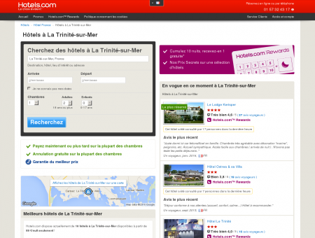 Hôtel à La Trinité-sur-Mer - comparaison et ...