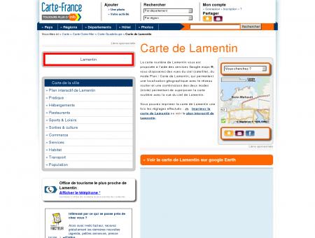 Carte et plan de Lamentin 97129 : Hôtel,...