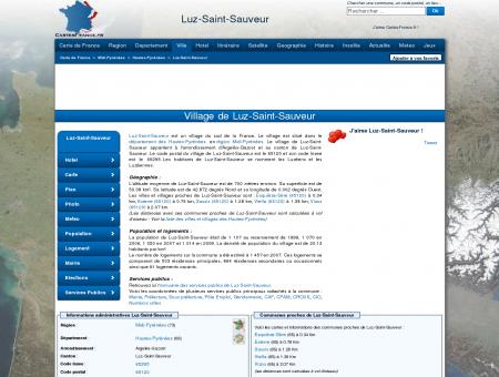 LUZ-SAINT-SAUVEUR - Carte plan hotel...