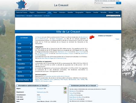 LE CREUSOT - Carte plan hotel ville de Le...