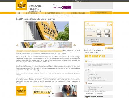 Hotel Première Classe Lille Ouest - Lomme |...